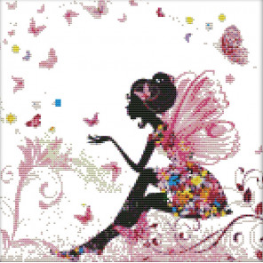 В рамке Цветочная дама Набор для вышивания K474