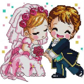 В рамке Романтическая свадьба Набор для вышивания K052