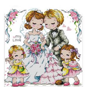В рамке Узы любви Набор для вышивания K051