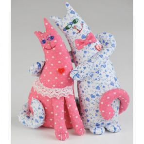 Влюбленные коты Набор для создания игрушки своими руками ПЛ-402