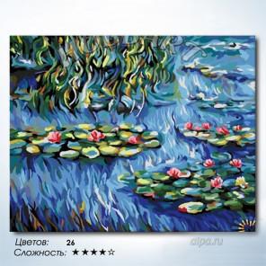 Количество цветов и сложность Водяные лилии. Клод Моне Раскраска картина по номерам на холсте Hobbart HB4050373-Lite