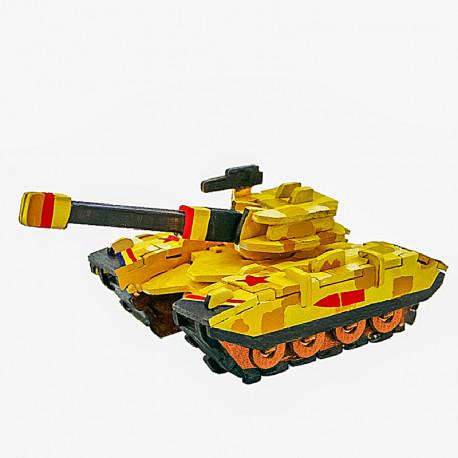 Танк раскраска3D Пазлы деревянные с красками Robotime HC255