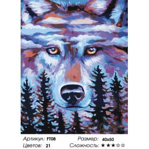 Хранитель леса Раскраска картина по номерам на холсте FT08