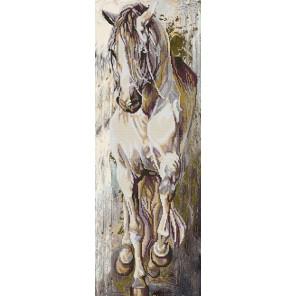 В рамке Норд Канва с рисунком для вышивки бисером Конек 1230