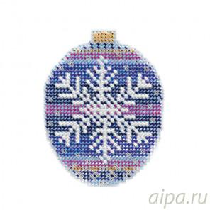 В рамке Королевская снежинка Набор для вышивания бисером с магнитом MILL HILL MH211812