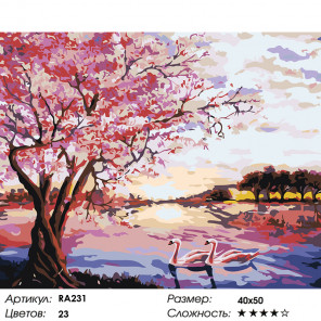 Цвета сезонов Раскраска картина по номерам на холсте RA231