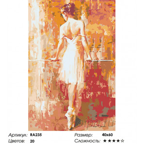 Тонкий стан балерины Раскраска картина по номерам на холсте RA235