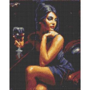Дама с бокалом Канва с рисунком для вышивки бисером Каролинка ТКБЛ 3045