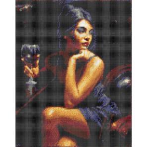 Девушка с бокалом Набор для вышивания Каролинка КТКН 146 (Р)