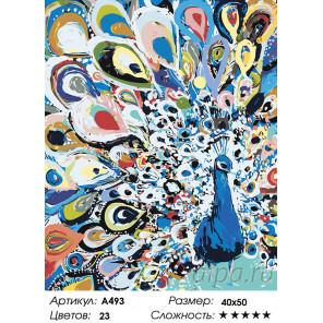 Количество цветов и сложность Красочный павлин Раскраска картина по номерам на холсте A493