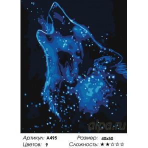 Количество цветов и сложность Звездный волк Раскраска картина по номерам на холсте A495