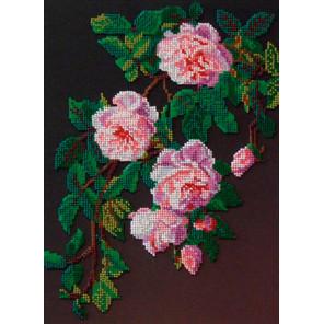 Розовые розы Набор для вышивания бисером GALLA COLLECTION Л328