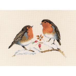 Зимние малиновки Набор для вышивания Heritage VPWR697E