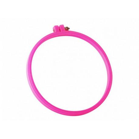 Пяльцы розовые круглые (диаметр 23 см) RY4244