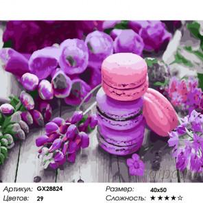 Сиреневые сладости Раскраска картина по номерам на холсте GX28824