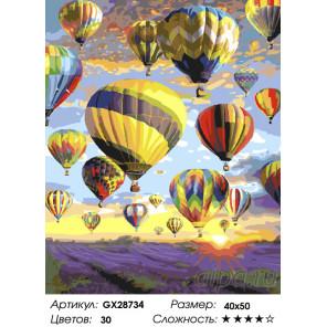 Полёт над лавандовым полем Раскраска картина по номерам на холсте GX28734