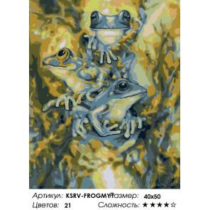 Количество цветов и сложность Лягушата Раскраска по номерам на холсте Живопись по номерам KSRV-FROGMY1