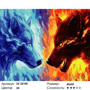 Количество цветов и сложность Жара и холод Раскраска картина по номерам на холсте ZX 22100