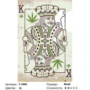 Количество красок и сложность Карточный король Раскраска по номерам на холсте Живопись по номерам Z-AB86