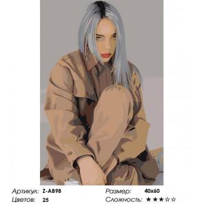 Количество цветов и сложность Её жизнь Раскраска картина по номерам на холсте Z-AB98