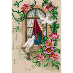На крыльях любви Набор для вышивания Овен 1047