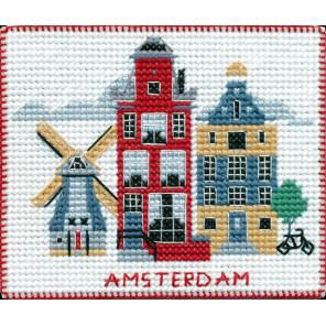 Столицы мира. Амстердам Набор для вышивания на магнитной основе Овен 1054