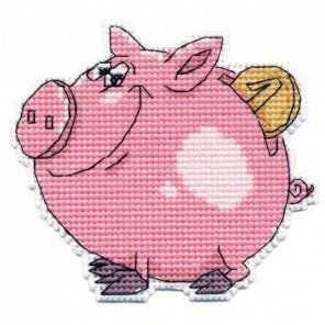 Свинка - копилка Набор для вышивания Овен 1086