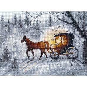 Пример оформления в рамку Вечерняя прогулка Набор для вышивания Овен 1188