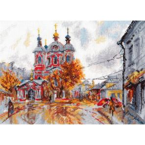 Пример оформления в рамку Храм Святого Климента. Москва Набор для вышивания Овен 1050