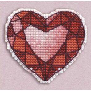 Сердце значок Набор для вышивания Овен 1173
