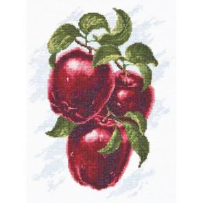Вышитая работа в рамке Спелые яблоки Набор для вышивания Палитра 04.005