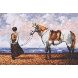 Вышитая работа в рамке Морской бриз Набор для вышивания Палитра 07.014