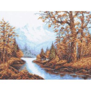 Пейзаж с горами Набор для вышивания Палитра