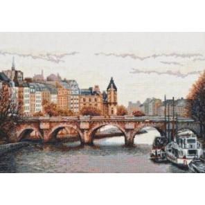 Мост через Сену Набор для вышивания Палитра