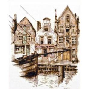 Вышитая работа в рамке Старый Амстердам Набор для вышивания Палитра 08.014