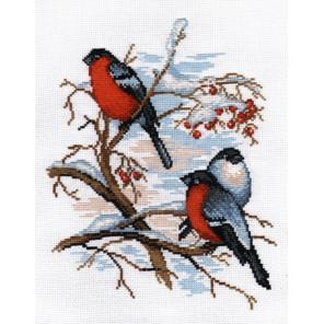 Снегири Набор для вышивания Овен 565