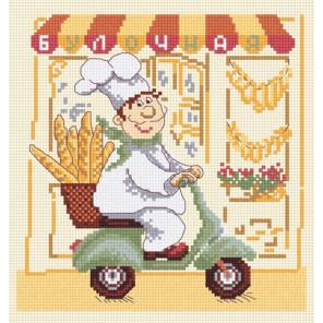 Пример оформления в рамку Веселый повар-3 Набор для вышивания Овен 591