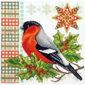 Новогодний снегирь Набор для вышивания Марья Искусница