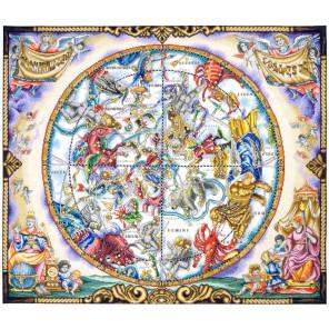 Карта созвездий Набор для вышивания Марья Искусница