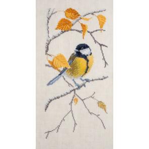 Синичка Набор для вышивания Марья Искусница