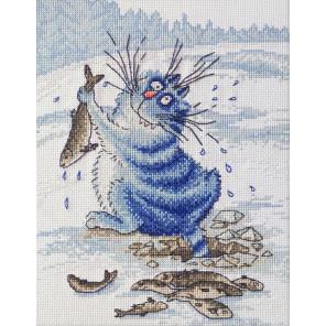В рамке Азартный рыбак по рисунку И. Зенюк Набор для вышивания Марья Искусница 07.011.06