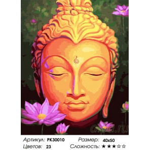 Будда Раскраска картина по номерам на холсте PK30010