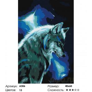 Мысли вожака Раскраска картина по номерам на холсте A506