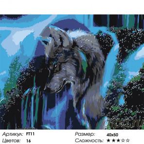 Мысли вожака 2 Раскраска картина по номерам на холсте FT11