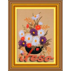 Астры Набор для вышивки картины лентами Iteso