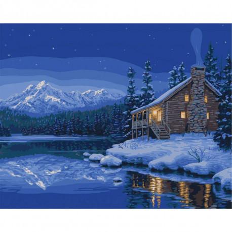 PLD-26747 Тихий привал Quiet Camp Раскраска картина по ...