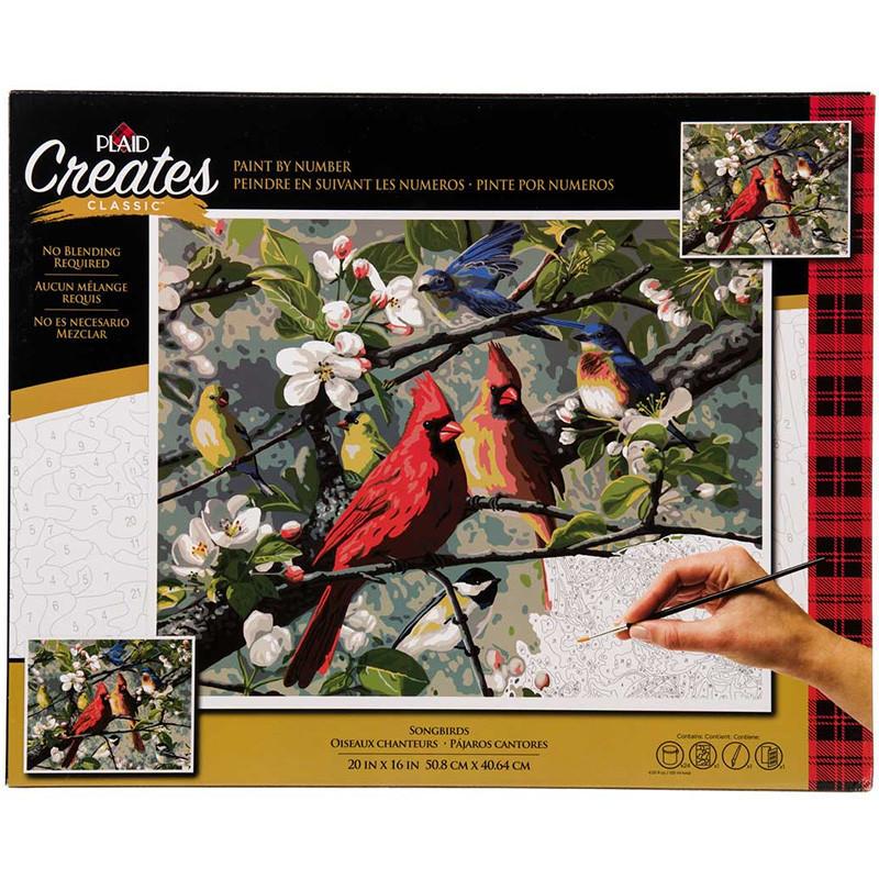 PLD-22599 Певчие птицы Songbirds Раскраска картина по ...