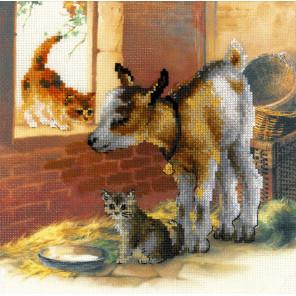 Котенок и козлята Набор для вышивания Риолис