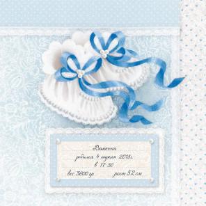 Фрагмент Пинетки для мальчика Набор для вышивания Риолис 0082РТ