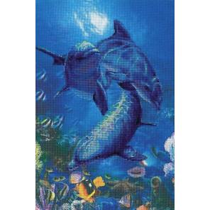 Три дельфина Набор для вышивания Риолис 0014 РТ